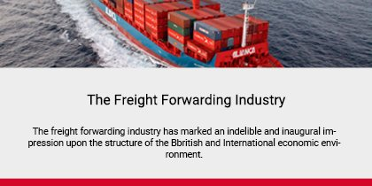 The Freight Forwarding Industry