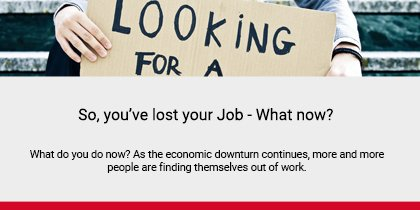 So, you've lost your job Article